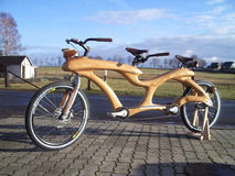 WoodenTandemBike