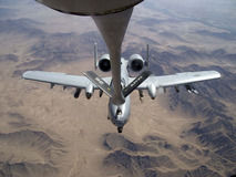 A-10 Thunderbolt II takes on gas from a KC-135 Stratotanker