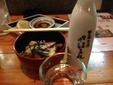 日本酒と揚げ出し豆腐