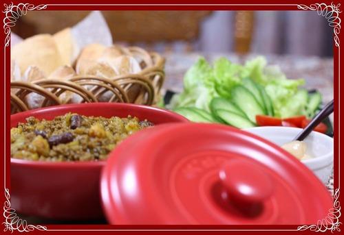 ピタパンと豆のドライカレー2