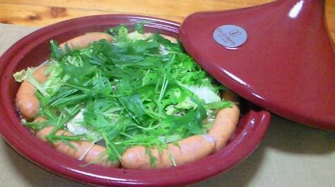 白菜と豚肉のタジン