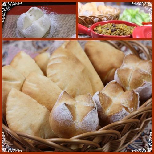 ピタパンと豆のドライカレー1