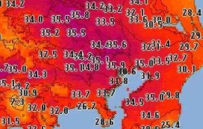 【暑すぎ】東京都心で35度超え!ネット民も悲鳴「勘弁してください」「もう梅雨明けでしょ」の画像