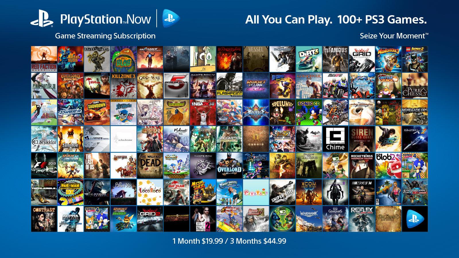 PS4のクラウドゲーミング『PS Now』が北米で1月13日からついに開始!月額19.99ドルで100タイトル以上遊び放題!!