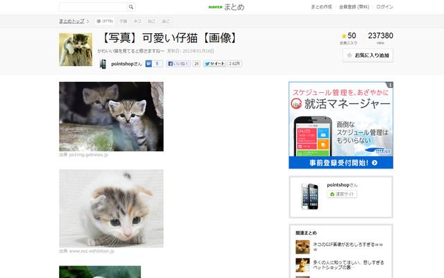 【写真】可愛い仔猫【画像】   NAVER まとめ