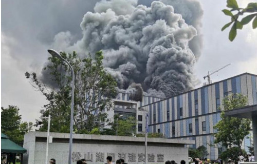 【ヤバイ】ファーウェイの巨大研究施設で大規模火災発生!何があったんだこれ・・・