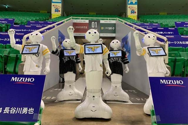 【悲報】バレンティン、ロボット応援団に打球直撃させ1台200万円のペッパーくんを破壊してしまう