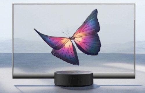 中国Xiaomi、世界初となる『量産型透明テレビ』を発表!めっちゃスケスケなんですけど!!