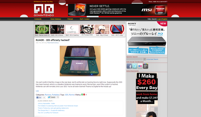 RUMOR   3DS officially hacked
