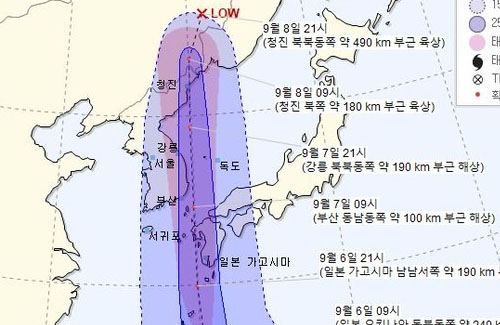 韓国気象庁「台風10号は韓国には来ない。海を抜けていく」 → 予想大外れ 韓国上陸を認める