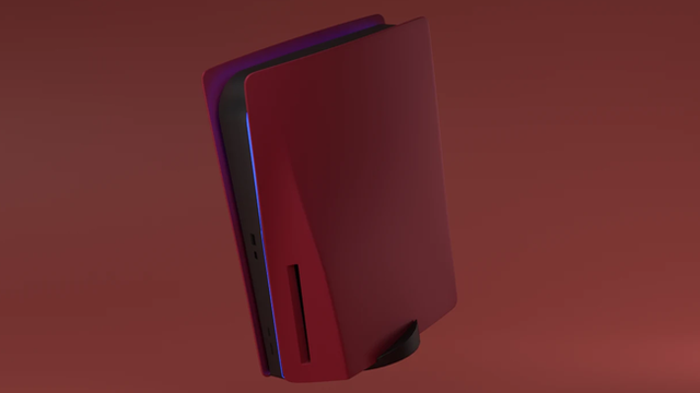 platestation5-custom-ps5-faceplates-outer-shell-cherry-red