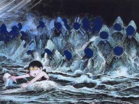 防空頭巾の集団亡霊