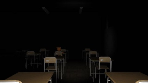 深夜の教室