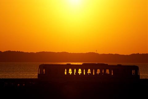 夕暮れの列車