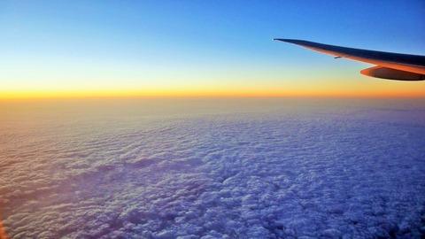 飛行機の景色