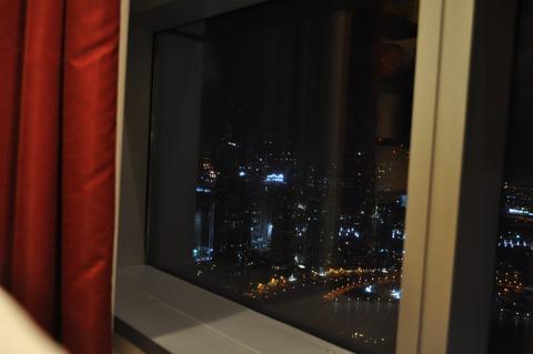 ホテルの窓
