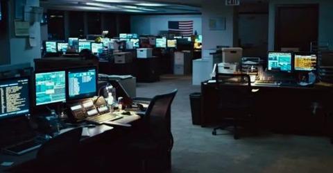 深夜のオフィス