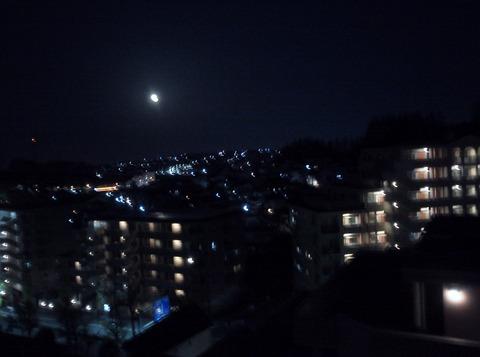 夜ベランダ
