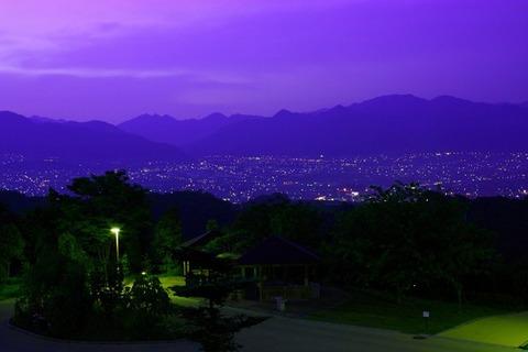 紫色の朝焼け
