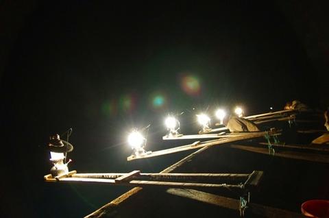 夜釣りのリュック
