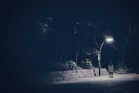 街灯の下に