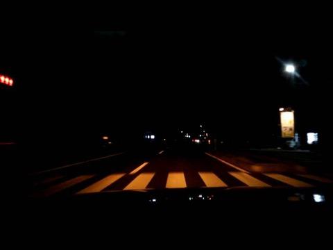 深夜のバイパス