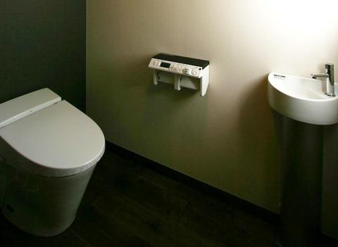 地下のトイレ