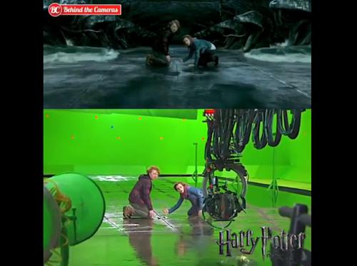 CGって凄い!ハリーポッターの撮影と映画の同じシーンを比較した映像