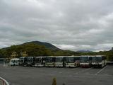 5月13日のバス駐車場
