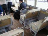 ボンネットバス内部