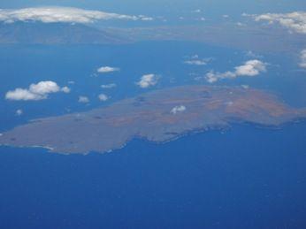 オアフ島への機内景色3