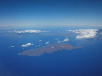 オアフ島への機内景色2