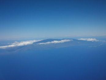 オアフ島への機内景色
