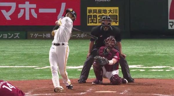 柳田悠岐「則本のボールすごすぎてこういう結果になった」終盤8回決勝弾