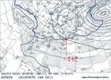 12月26日09時850hPa天気図