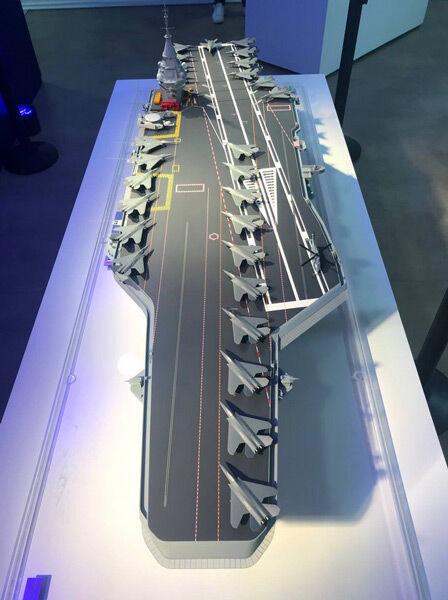 フランス次世代原子力空母の模型(Image:ナーバル・グループ)
