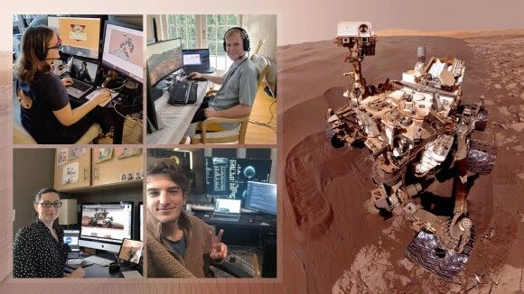 火星探査機を自宅操作