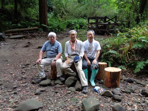 2018-09-23森戸川・山桑広場での丸太椅子作り29