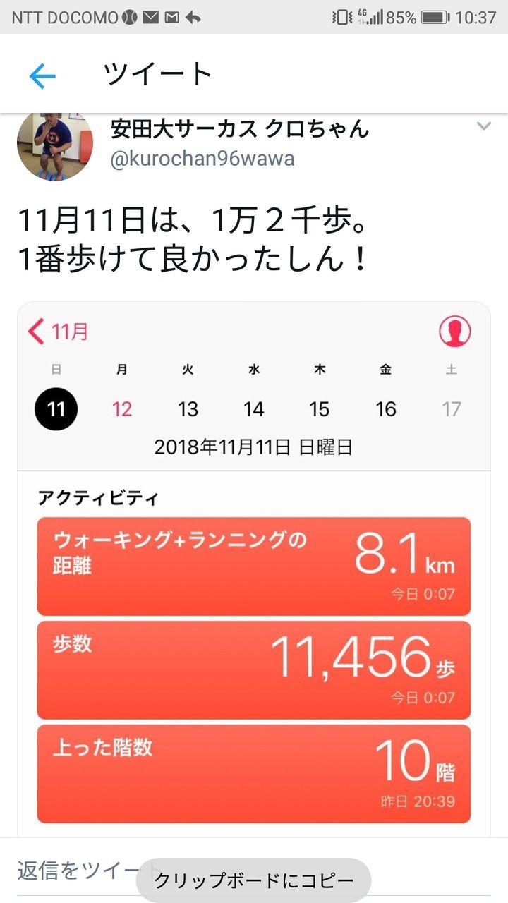 クロちゃんさん、ダイエットのために1日10000歩(8km)歩く