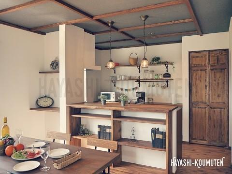 181023霧島市林工務店対面式キッチン