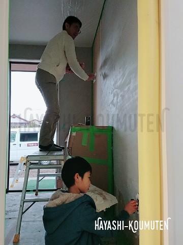 19021103s霧島市林工務店塗り壁スタッコウォール