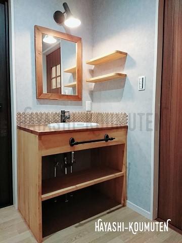 19022801霧島市林工務店造作洗面化粧台