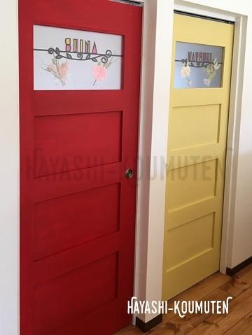 18122701霧島市林工務店子供部屋ドア