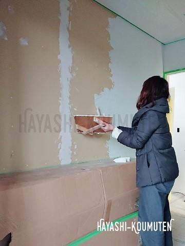 19021102霧島市林工務店塗り壁スタッコウォール
