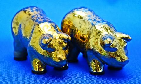 黄金の豚2匹