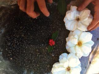 砂と花アート
