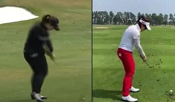 Moriya Jutanugarn 右打ちと左打ち比較