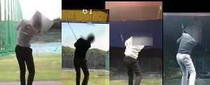 【#ゴルフスイング】 Kさんのスイング変遷 完全通信講座_Moment1