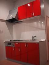 キッチン赤�
