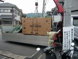 大きなトラックで運ばれて来ました!